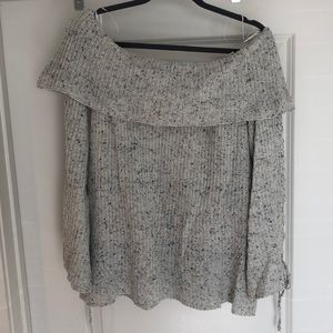 Heather Grey off the shoulder sweater
